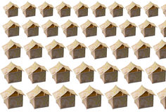 Houses made of fifty valued banknotes Royalty Free Stock Photography