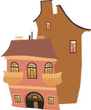 Houses. Made in the program illustrator for a book or site Stock Images