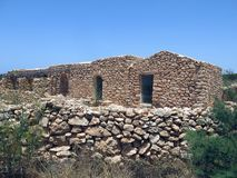 Houses made of stone in Sicily Italy Royalty Free Stock Photography