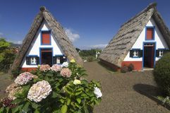 Houses in Madeira island Stock Images