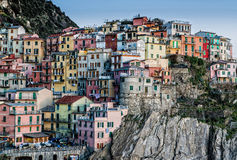 Houses of Manarola. Colorful houses of Manarola Cinque Terre - Liguria Italy Royalty Free Stock Image