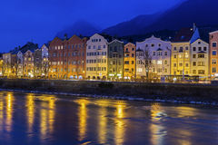Houses on Mariahilfstrasse in Innsbruck in Austria Stock Image