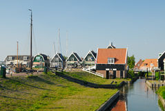Houses in Marken. Old dutch houses in Marken a small village near Amsterdam royalty free stock photography