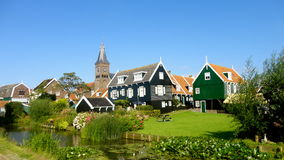 Houses in Marken. Colourful traditional houses in Marken (Holland stock photos