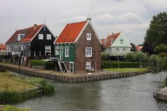 Houses in Marken, Holland Royalty Free Stock Photography