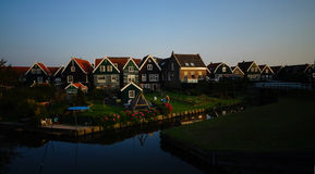 Houses of Marken island, Netherlands Stock Photography