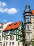 Houses on Market Square in Eisenach, Germany Royalty Free Stock Photo