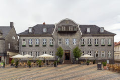 Houses on the market square in Goslar, Germany. The old picturesque houses on the market square in Goslar, Germany Royalty Free Stock Photography