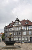 Houses on the market square in Goslar, Germany Stock Images