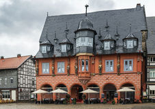 Houses on the market square in Goslar, Germany Stock Photos