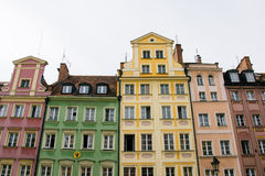 Houses on market square Rynek in Wroclaw, Poland Royalty Free Stock Photos
