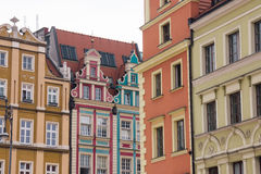Houses on market square Rynek in Wroclaw, Poland Stock Photo
