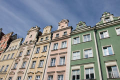 Houses on market square Rynek in Wroclaw, Poland Royalty Free Stock Photo
