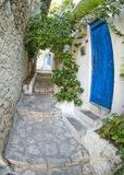 Houses in Marmaris. Old houses and narrow Streets in Marmaris Turkey, fish-eye lens Stock Photography