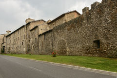 Houses in medieval city walls, Rieti Royalty Free Stock Images