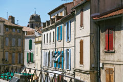 Houses in medieval south town Stock Photography