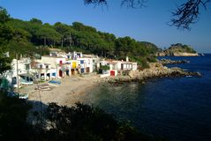 Houses on mediterranean costline Stock Photos
