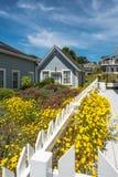 Houses  in Mendocino, California Royalty Free Stock Photo