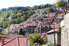 The houses in Metsovo Greek village Royalty Free Stock Image