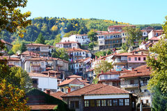 The houses in Metsovo Greek village royalty free stock images
