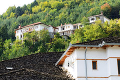 The houses in Metsovo Greek village Stock Photography