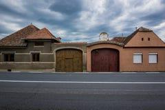 Houses in Miercurea Sibiului Royalty Free Stock Image