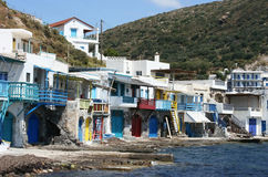 Houses in Milos island Royalty Free Stock Images