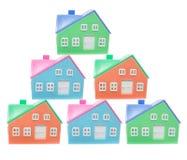 houses miniatyrplast- Royaltyfria Foton