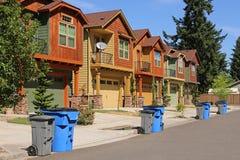 houses modern rad Arkivbilder
