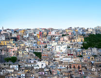 Houses in Modica Italy. Landscape view with agglomerate of typical houses in Modica, Sicily Stock Photography