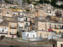 Houses of Modica, Sicily Royalty Free Stock Photography