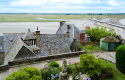 Houses in Mont Saint Michel – Normandie, France Royalty Free Stock Photos