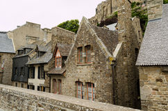 Houses in Mont Saint Michel � Normandie, France Royalty Free Stock Images