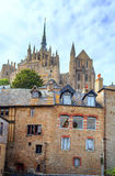 Houses of Mont Saint Michel Royalty Free Stock Photo