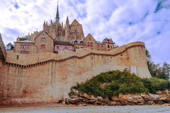 Houses of Mont Saint Michel Royalty Free Stock Images