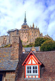Houses of Mont Saint Michel Royalty Free Stock Image