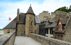 Houses in Mont Saint Michel – Normandie, France Stock Photography