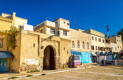 Houses in Moulay Idriss Zerhoun, Morocco stock photo