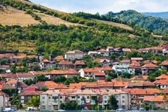 Houses on mountain Stock Photos