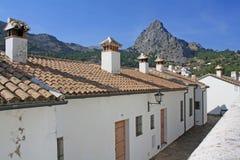 Houses on the mountain Royalty Free Stock Photo