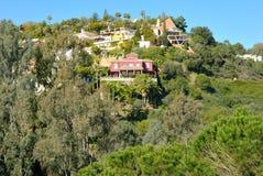 Houses on the  mountain Royalty Free Stock Photos