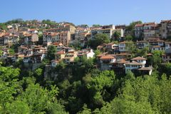 Houses from a mountain city. Houses from the city of Veliko Tarnovo, Bulgaria Royalty Free Stock Photography