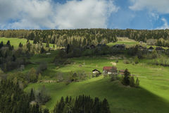 Houses on the mountain hills in Austria in spring Stock Photos