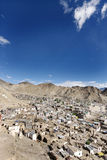 Houses and mountain valleys from Tsemo hill, Leh Royalty Free Stock Photo