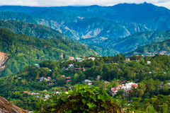 Houses in the mountains of Baguio Royalty Free Stock Image