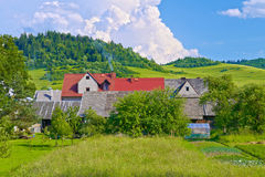 Houses in the mountains Stock Photography