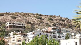 Houses on the mountains in Cyprus stock video