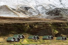 Houses in the mountains of Iceland.  Stock Image