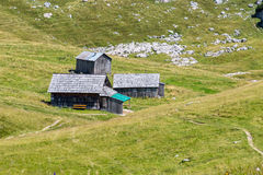Houses in the mountains Stock Image