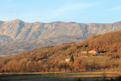 Houses in mountains (Montenegro, winter) Stock Image